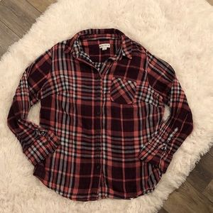 Women's Ava Viv Plaid Button-Down Shirt